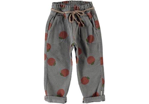 Piupiuchick Piupiuchick - Trousers w/ belt grey w/ peaches allover - 3 year