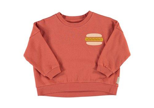 Piupiuchick Piupiuchick - Unisex sweatshirt brick w/ print