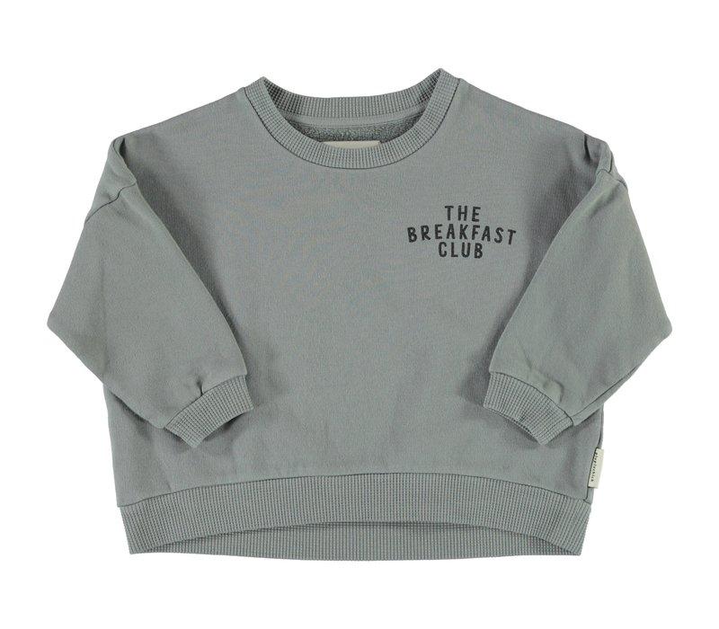 Piupiuchick - Unisex sweatshirt grey w/ print