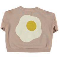 Piupiuchick - Unisex sweatshirt light brown w/ print