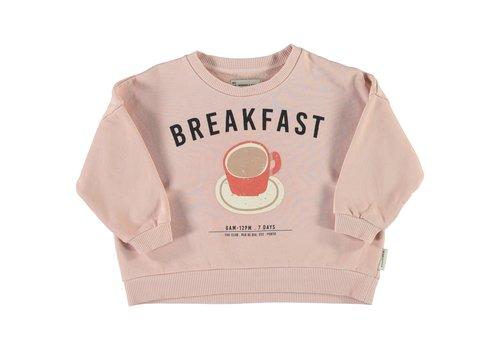 Piupiuchick Piupiuchick - Unisex sweatshirt light pink w/ print