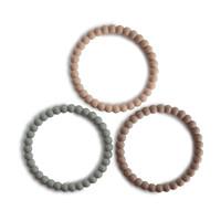 Mushie - Mushie - Silicone bracelet (3pack) cl. sage/ tuscany/ dese