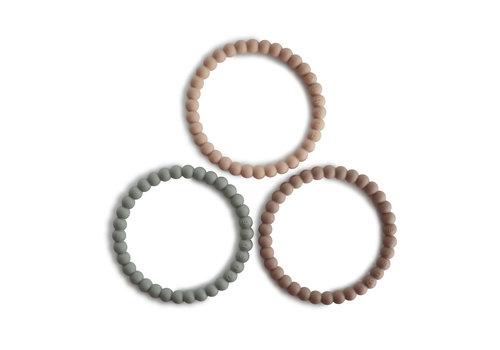 Mushie Mushie - Mushie - Silicone bracelet (3pack) cl. sage/ tuscany/ dese