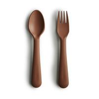 Mushie - Bestek vork & lepel Caramel