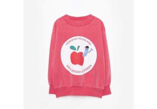 Weekend house kids Weekend House Kids - Red apple sweatshirt