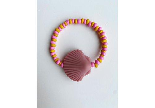 Bymelo Bymelo - Armband roze schelp