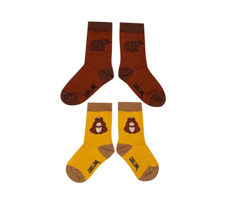 CarlijnQ - Socks set alpien marmot & grizzly