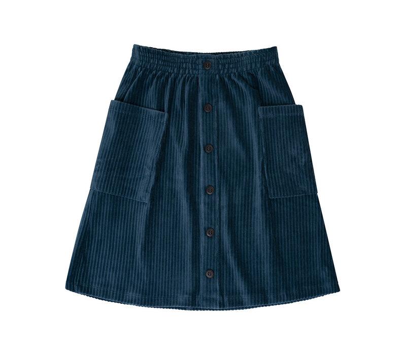 CarlijnQ - Corduroy teal midi skirt - 98/104