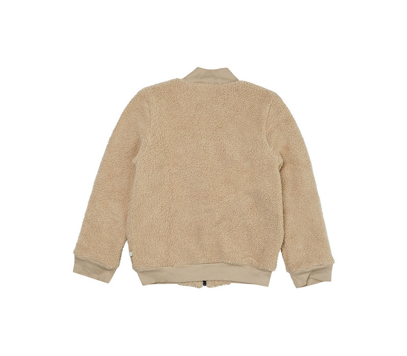 CarlijnQ - Wild horse teddy bomber jacket wt embroidery - 86/92