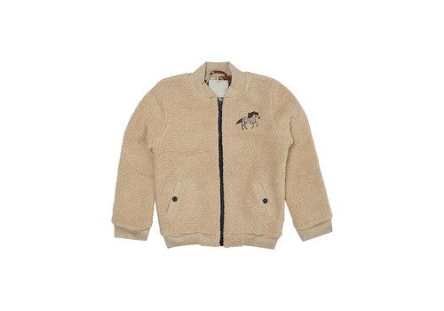 Carlijn Q CarlijnQ - Wild horse teddy bomber jacket wt embroidery - 86/92