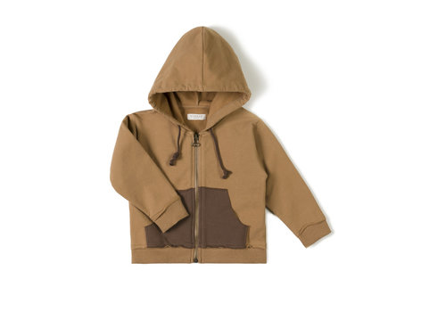 Nixnut Nixnut - Pocket hoodie toffee