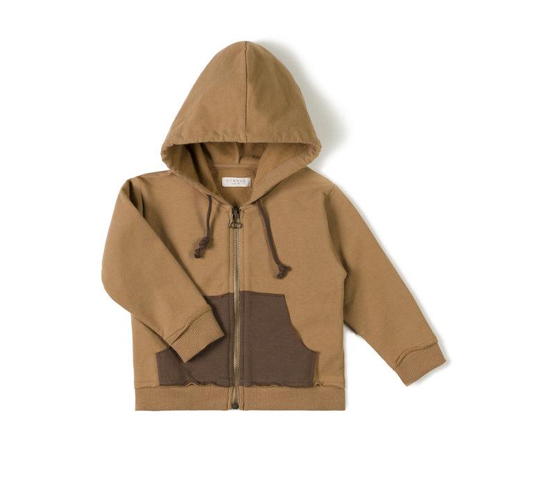 Nixnut - Pocket hoodie toffee