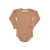 Blossom kids Blossom kids - Body long sleeve with lace soft rib deep toffee