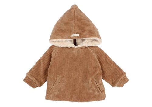 Buho Buho - Baby knit velour jacket muscade