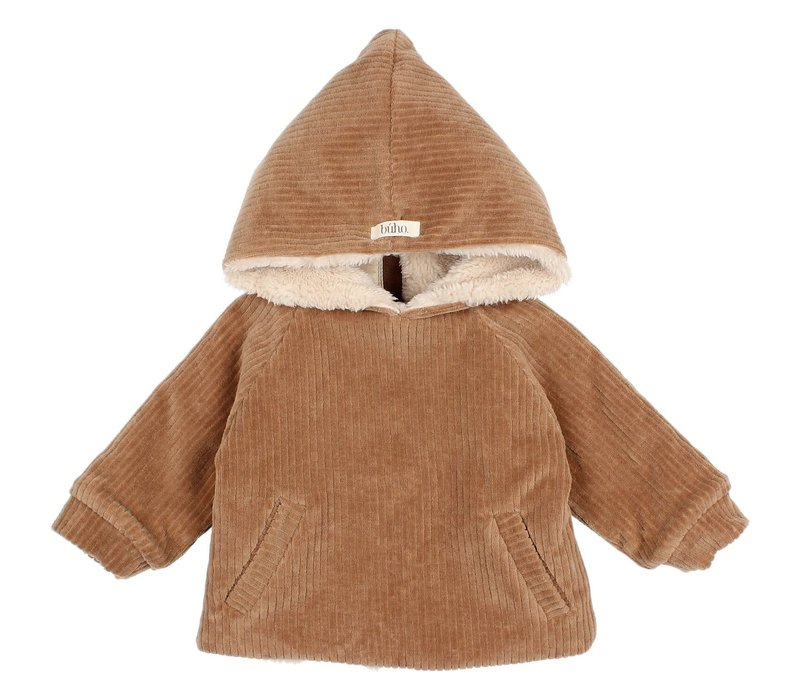 Buho - Baby knit velour jacket muscade