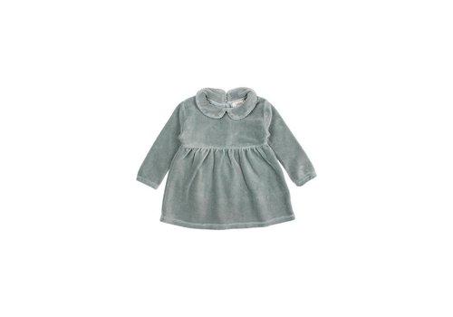 Buho Buho - Baby velvet dress storm grey