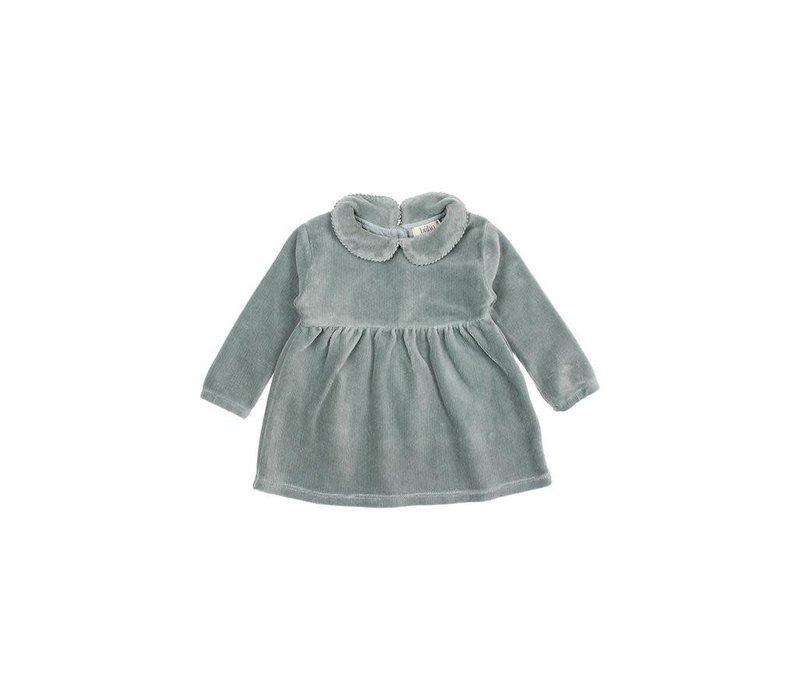Buho - Baby velvet dress storm grey