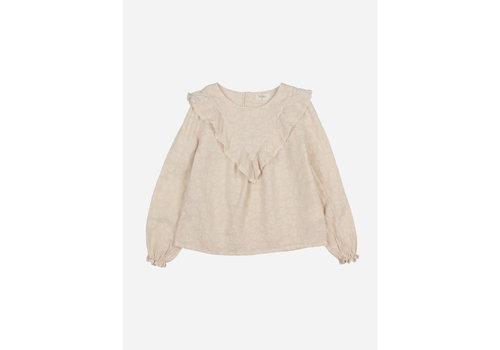 Buho Buho - Floral jacquard blouse stone