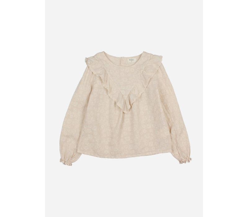 Buho - Floral jacquard blouse stone