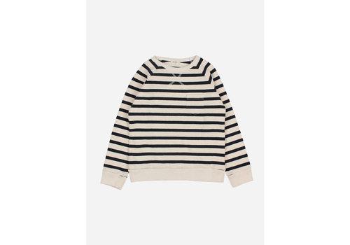Buho Buho - Navy stripes sweatshirt ecru