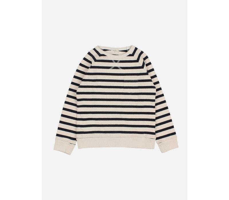Buho - Navy stripes sweatshirt ecru