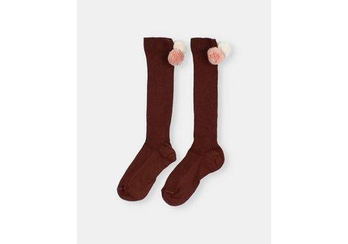 Buho Buho - Pom pom rib socks hazel