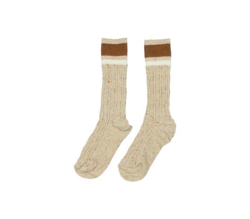 Buho - Rib band socks natural