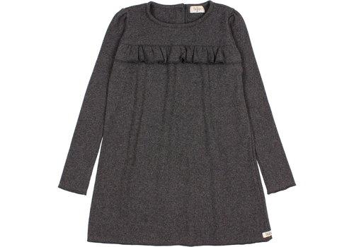 Buho Buho - Soft rib dress antracite