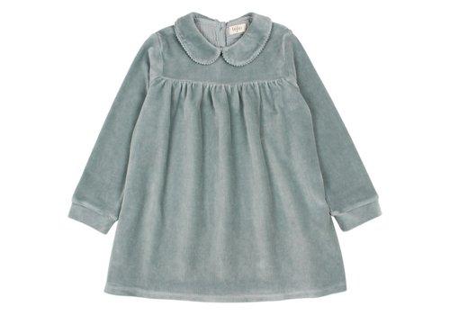 Buho Buho - Velvet dress storm grey