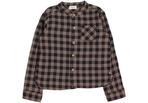 Buho Buho - Vichy pocket shirt taupe