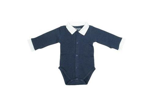 Mats&merthe Mats&merthe - Body Boy collar long sleeve donker blauw