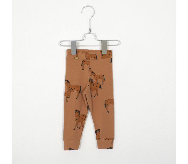 Lotiekids - Baby Leggings horses peach