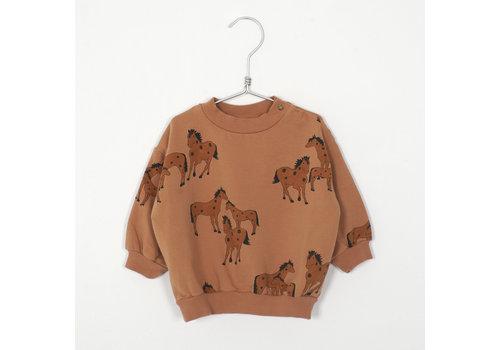 Lotiekids Lotiekids - Baby Sweatshirt horses peach