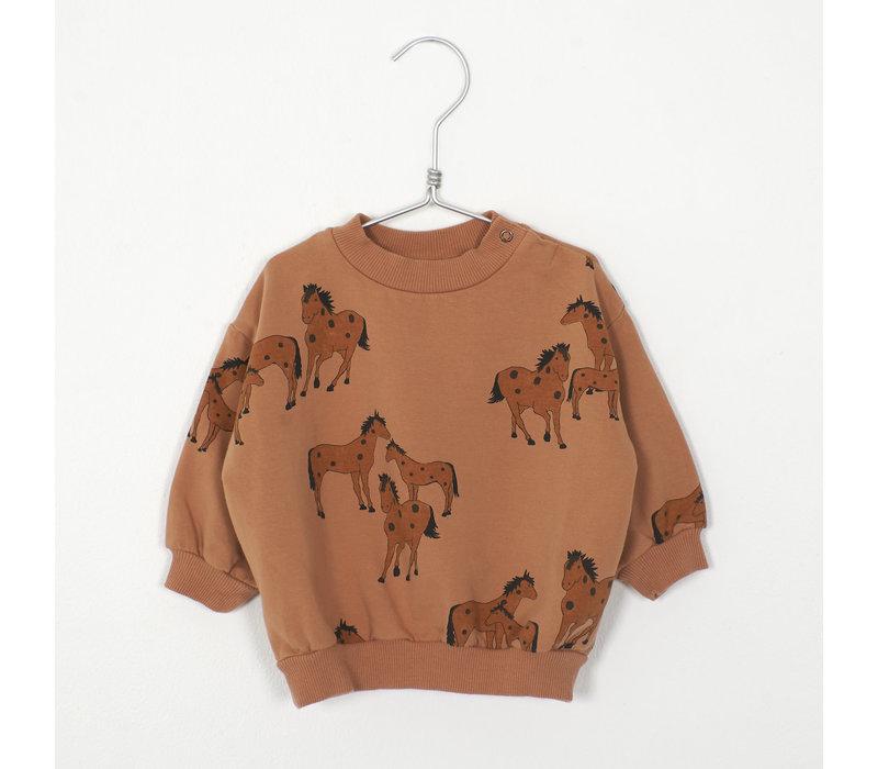 Lotiekids - Baby Sweatshirt horses peach