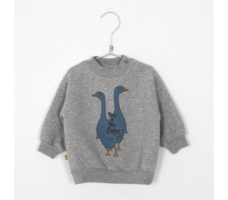 Lotiekids - Baby Teddy Sweatshirt mss & mrs goose grey melange