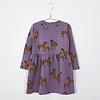 Lotiekids Lotiekids - Dress waist seam horses lilac