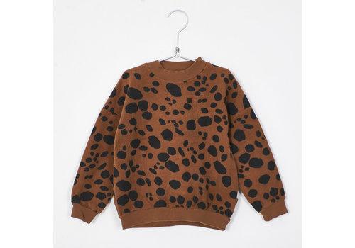 Lotiekids Lotiekids - Teddy sweatshirt dots cinnamon