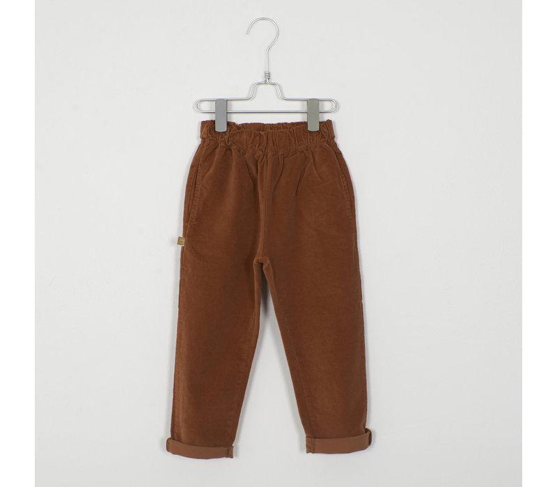 Lotiekids - Velvet Trousers solid cinnamon