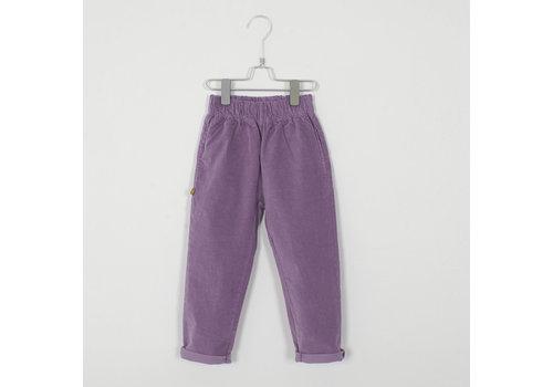Lotiekids Lotiekids - Velvet Trousers solid lilac