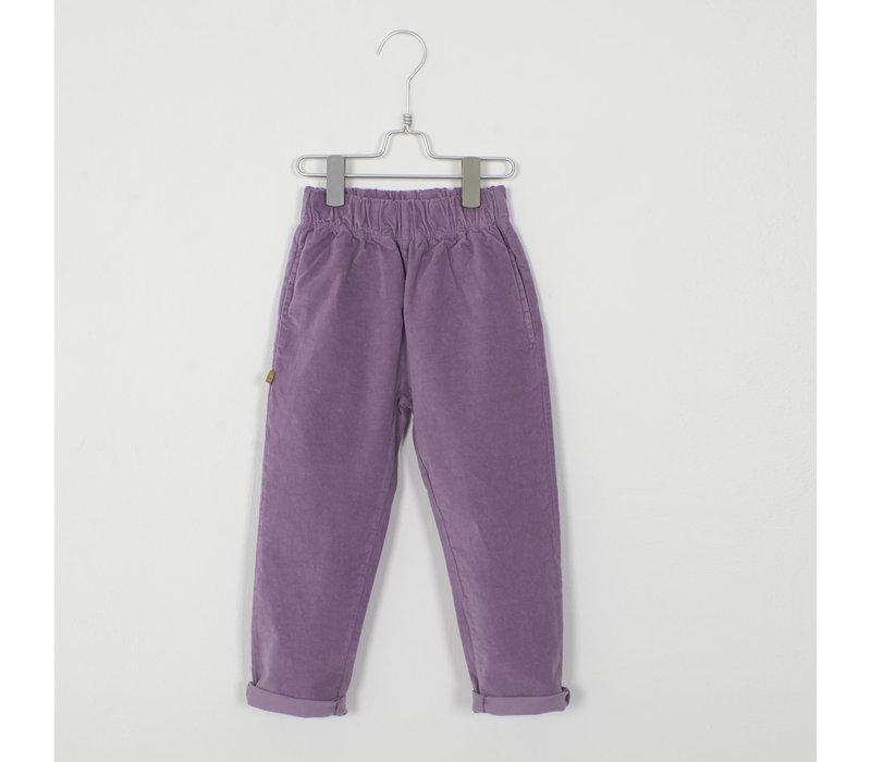 Lotiekids - Velvet Trousers solid lilac