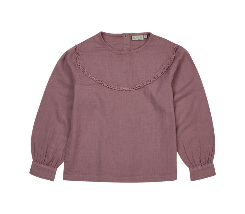 Blossom kids - Blouse with lace Dusty Violet