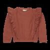 Blossom kids Blossom kids - Volant sweater Deep Coral