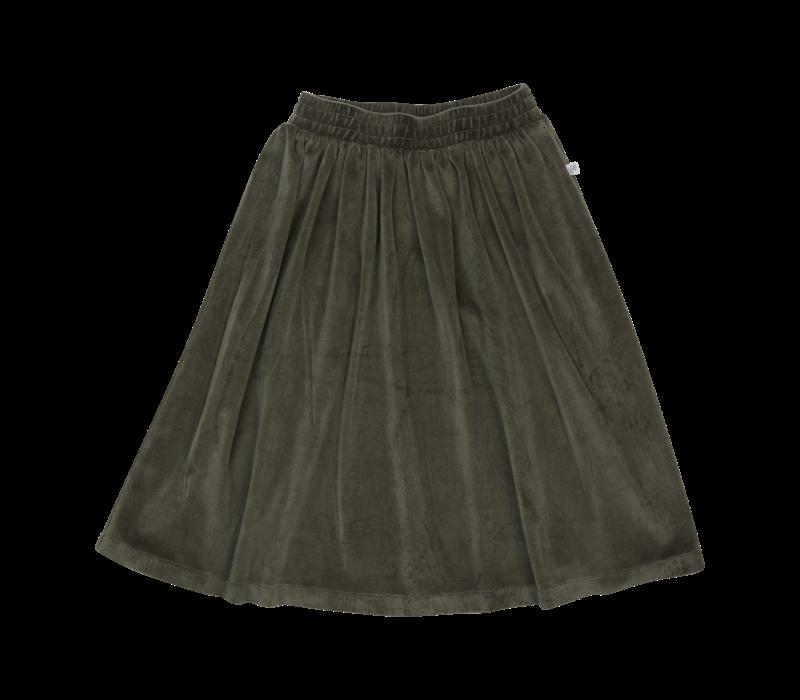 Blossom kids - Velvet Midi Skirt Sage