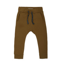 Phil & Phae - Drop-crotch sweat pants bronze olive