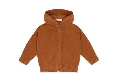 Phil&Phae Phil & Phae - Sweat jacket with hood gingerbread