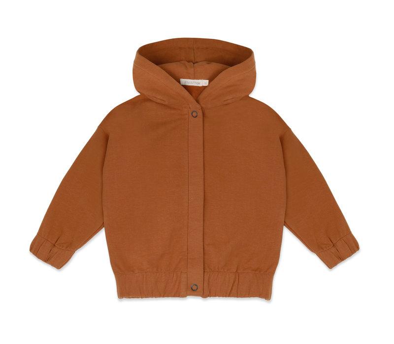 Phil & Phae - Sweat jacket with hood gingerbread