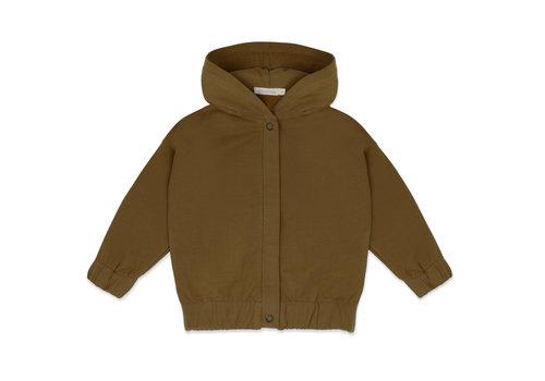Phil&Phae Phil & Phae - Sweat jacket with hood  bronze olive