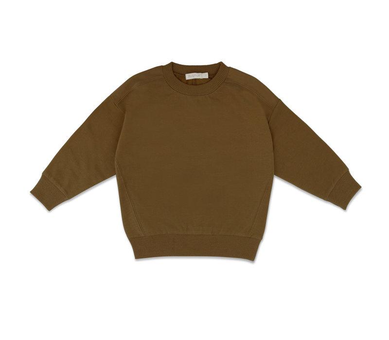 Phil & Phae - Oversized sweater bronze olive
