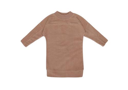 Phil&Phae Phil & Phae - Teddy sweater dress creamy mocha