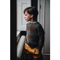 Blossom kids - Knitted Jumper Stripes Forest Green